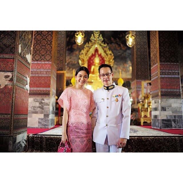 คุณสาระ และ สลิล ล่ำซำ (ภริยา) ประธานกรรมการผู้บริหารบริษัทเมืองไทยประกันชีวิต